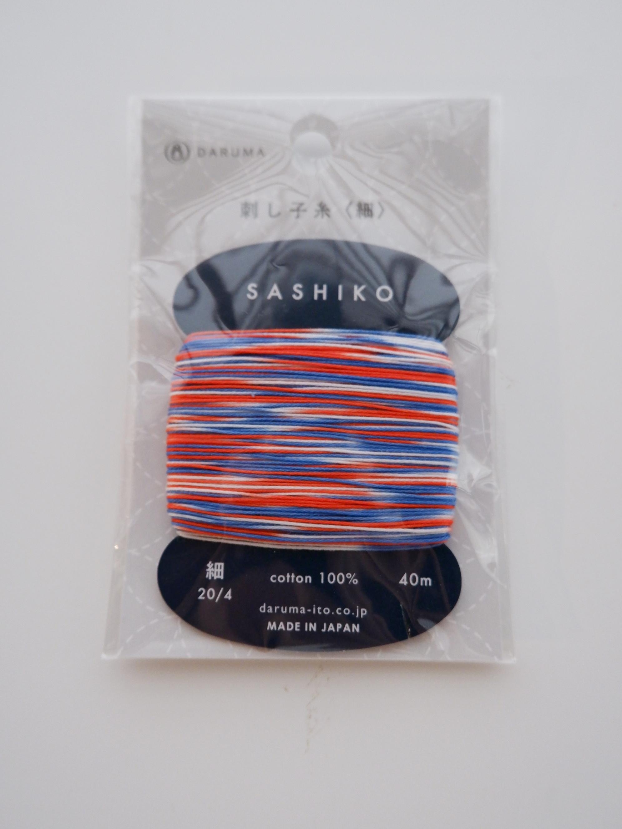 Daruma-SA-T3C  Daruma Sashiko threads 3 Mix color 40M
