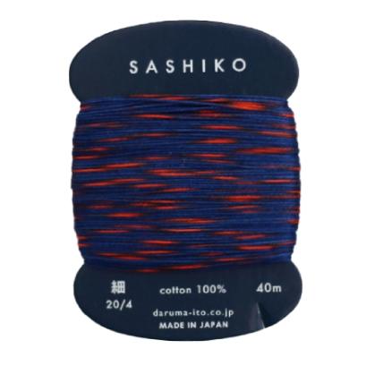 Daruma-SA-T2C Daruma Sashiko threads 2 Mix color 40M