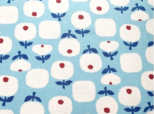 HJ2124 Linen blended Flower pattern Japan fabric sell by the roll (36M)