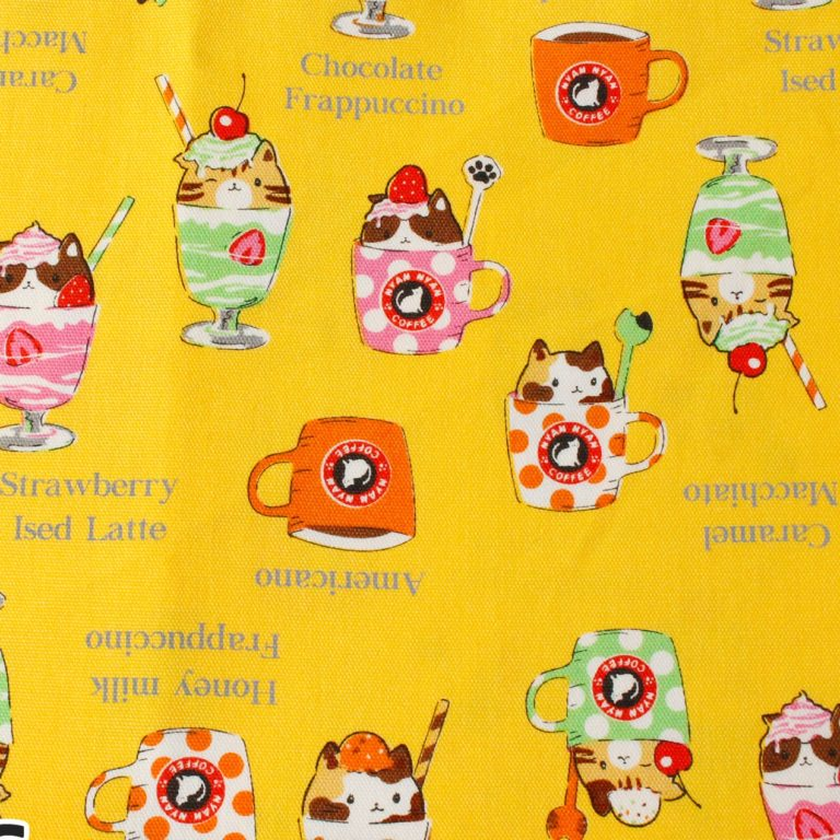 MF1003 CAT in the sweets kawaii Japanese fabric