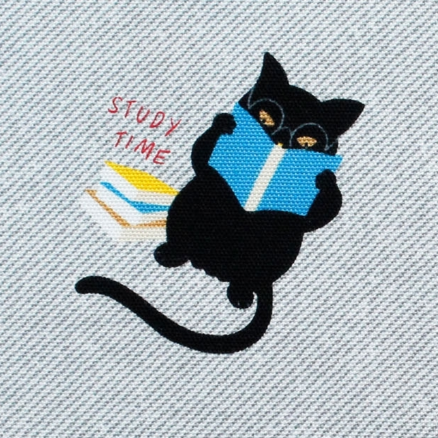 MF1007 funny CAT Japanese fabric animal  12M