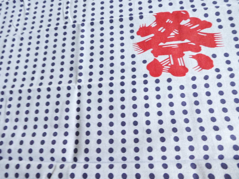 """祭 """"Japanese festival""""polka dots TENUGUI cotton 100% sarashi fabric(T50-52)"""